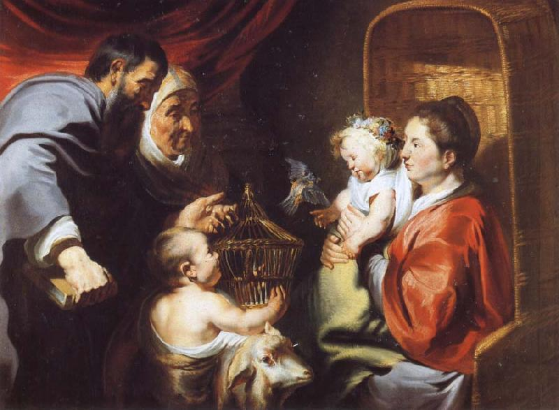 Jacob Jordaens The Virgin and Child with Saints Zacharias,Elizabeth and John the Baptist